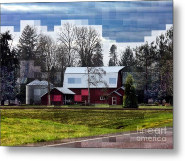 Farm Tapestry Metal Print by Erica Hanel