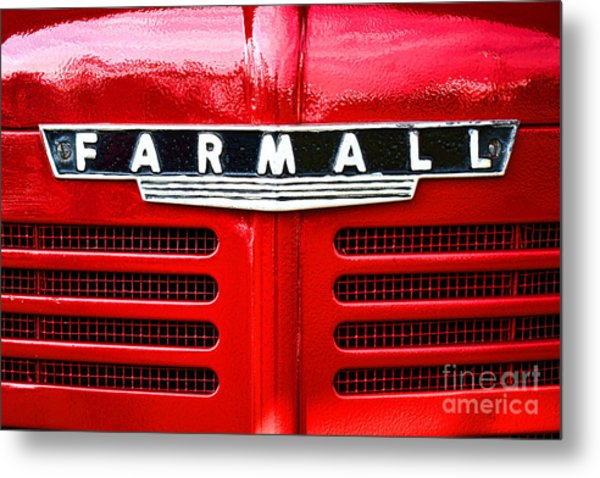 Metal Print featuring the photograph Farmall by Olivier Le Queinec