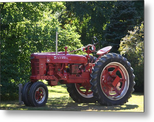 Farmall's End Of Day Metal Print