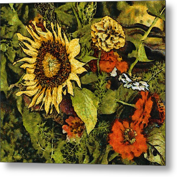 Farmers Market Sunflower Metal Print