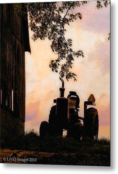 Farmers Sunset Metal Print