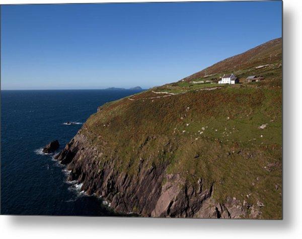 Farmhouse And Distant Blasket Islands Metal Print