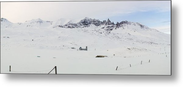 Farmhouse In Iceland Metal Print by Birgir Freyr Birgisson