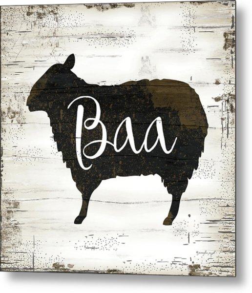Farmhouse Sheep Metal Print