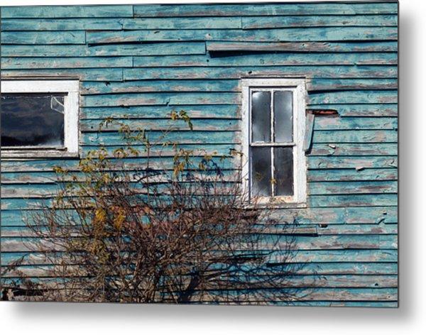 Farmhouse Windows Metal Print