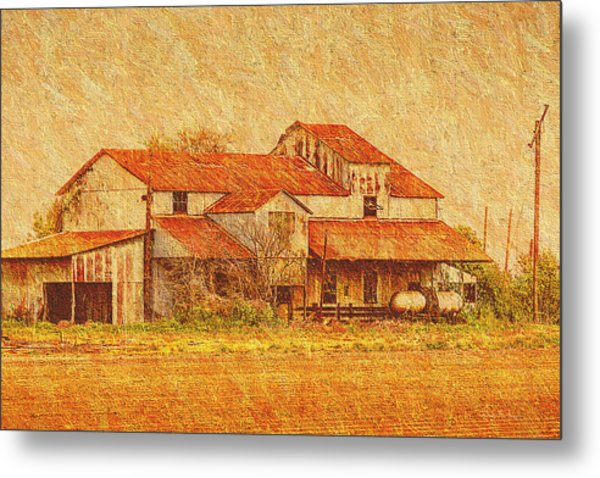 Farm - Barn - Farming The Delta Metal Print by Barry Jones