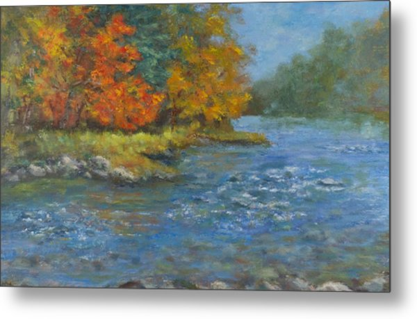 Farmington River Fall Metal Print
