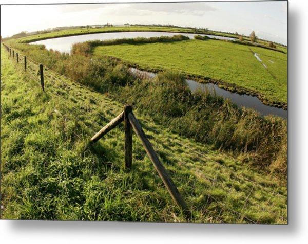 Farmland In Holland Metal Print