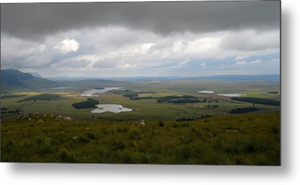 Farms - Drakensberg Range - South Africa Metal Print
