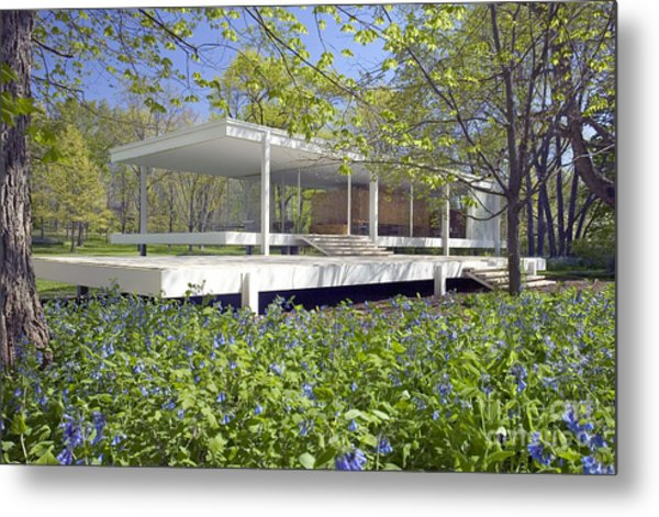 Farnsworth House Illinois Metal Print