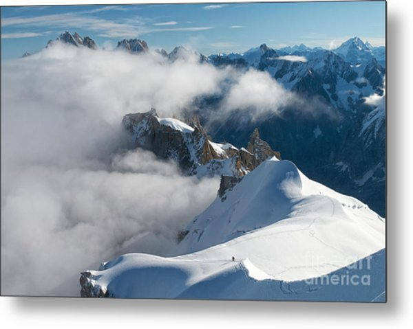 Fascinating Alpine World Chamonix Metal Print