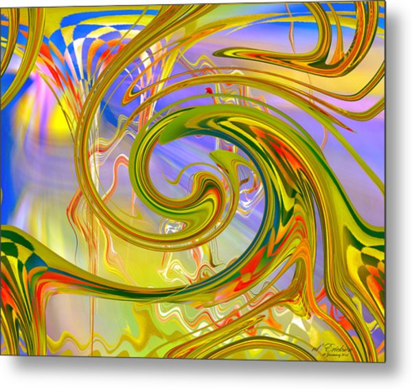 Metal Print featuring the digital art Fascinating by rd Erickson