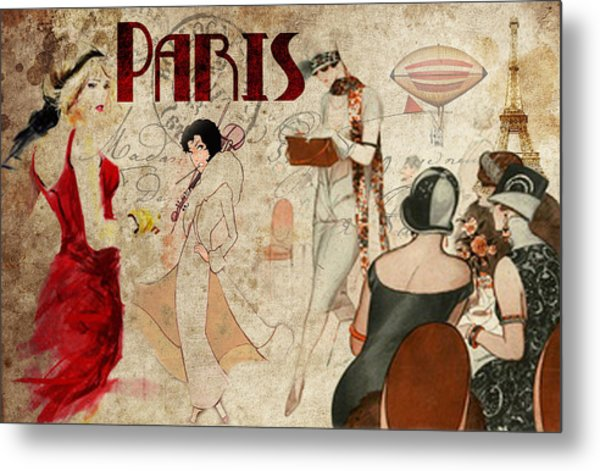 Fashion In Paris Metal Print