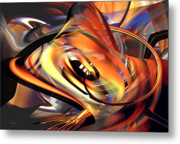 Fast Fire - Abstract Metal Print
