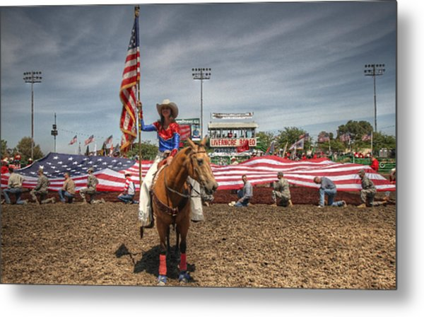 Fastest Rodeo On Earth Metal Print