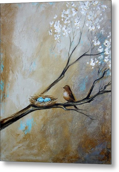 Fat Little Bird's Nest Metal Print
