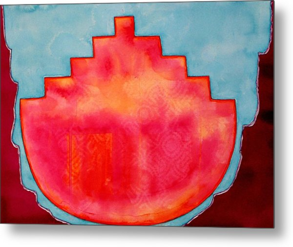 Fat Sunrise Original Painting Metal Print
