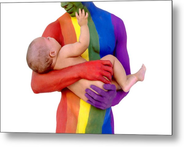 Father And Child Metal Print by Filippo Ioco