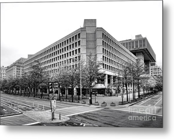 Fbi Building Front View Metal Print