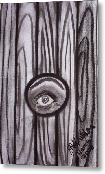 Fear - Eye Through Fence Metal Print