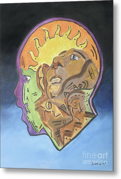 Metal Print featuring the painting Fear Of The Unknown by Dwayne Glapion