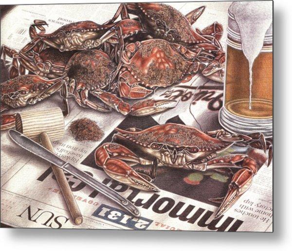 Feast On The Chesapeake Metal Print by Jonathan W Brown