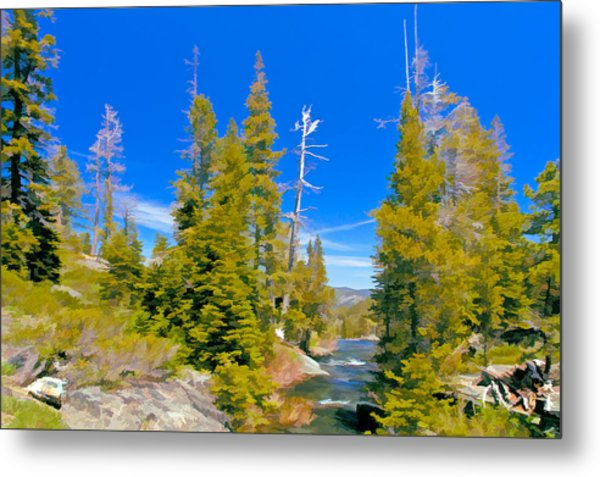 Feather River Metal Print
