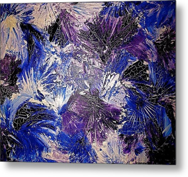 Feathers In The Wind Metal Print