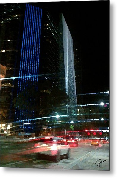 February In Miami Metal Print by Shawn Lyte