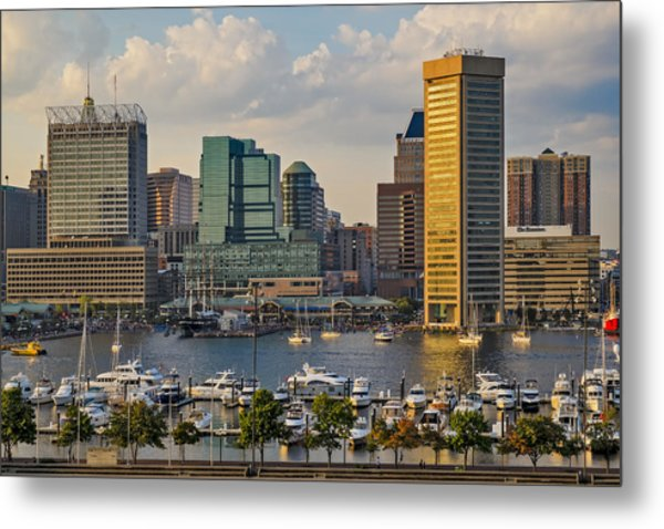Federal Hill View To The Baltimore Skyline Metal Print