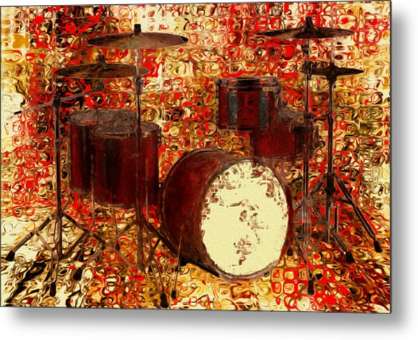 Feel The Drums Metal Print