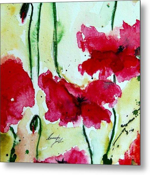 Feel The Summer 2 - Poppies Metal Print
