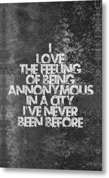 Feeling Quotes Poster Metal Print