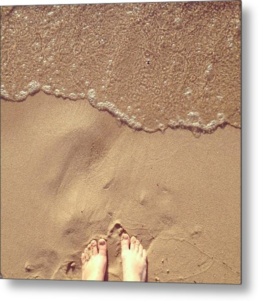 Feet On The Beach Metal Print