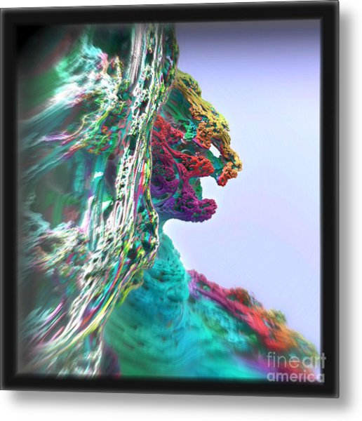 Feline Cliff Face Metal Print by Kevin Martin