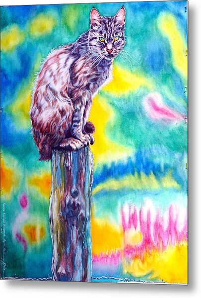 Metal Print featuring the painting Felix by Xavier Francois
