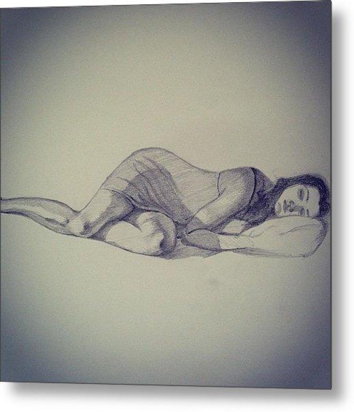 #female #sketch #figure #drawing #legs Metal Print