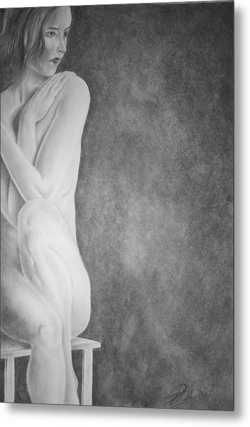 Feminine Iv Metal Print by Suvam Majumder