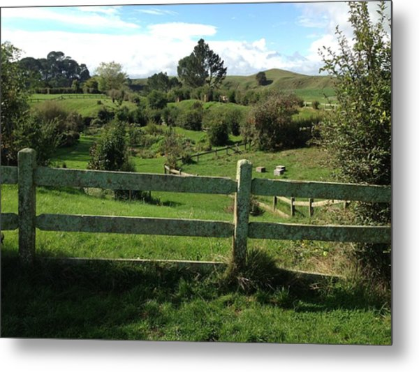 Fence And Beyond Metal Print by Ron Torborg