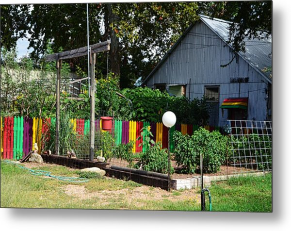 Fence Of Colors Metal Print by Kelly Kitchens