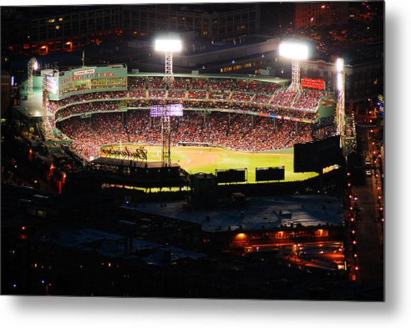 Fenway At Night Metal Print