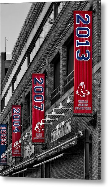Fenway Boston Red Sox Champions Banners Metal Print