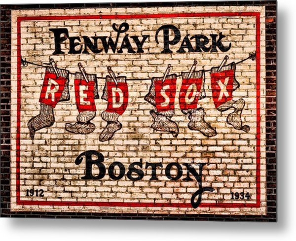 Fenway Park Boston Redsox Sign Metal Print