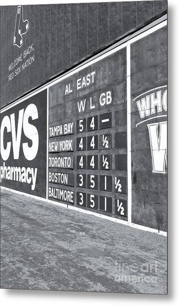 Fenway Park Green Monster Scoreboard II Metal Print