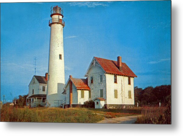 Fenwick Island Lighthouse 1950 Metal Print