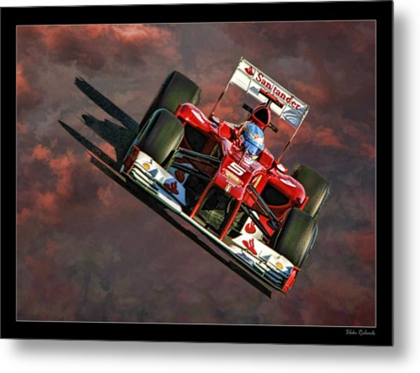 Fernando Alonso Ferrari Metal Print