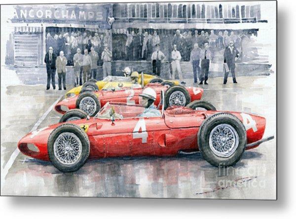Ferrari 156 Sharknose 1961 Belgian Gp Metal Print