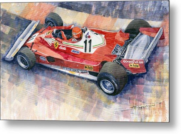 Ferrari 312 T2 Niki Lauda 1977 Monaco Gp Metal Print