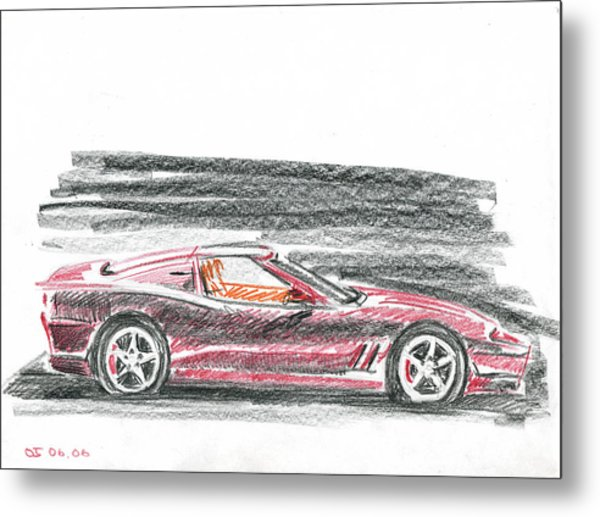 Ferrari 550 Metal Print by Ildus Galimzyanov