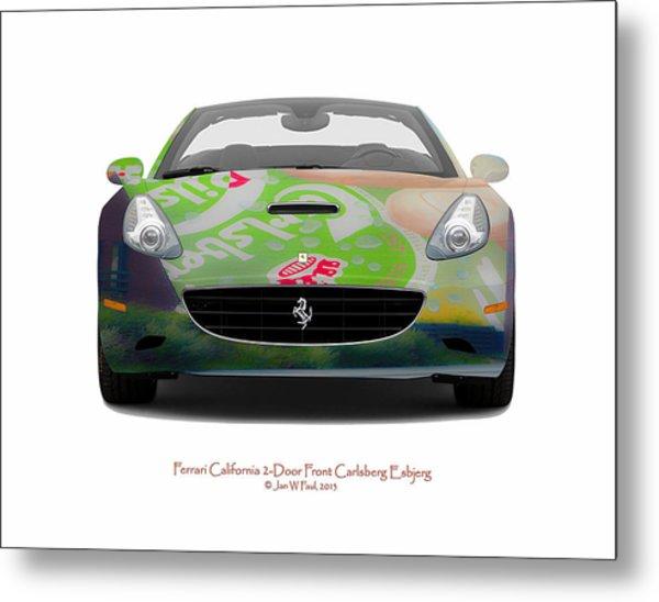 Ferrari California Carlsberg Esbjerg Metal Print by Jan W Faul
